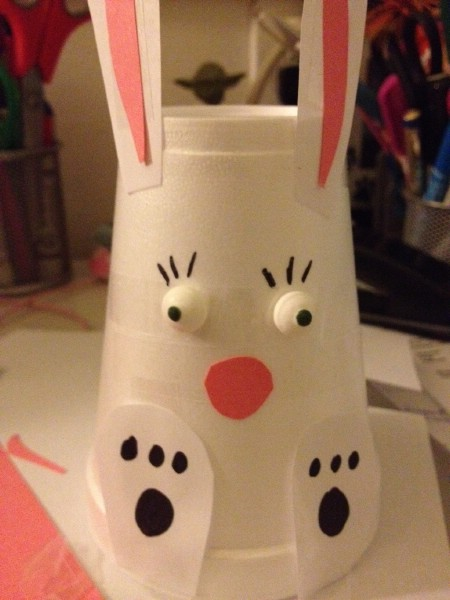 Paper cup bunny