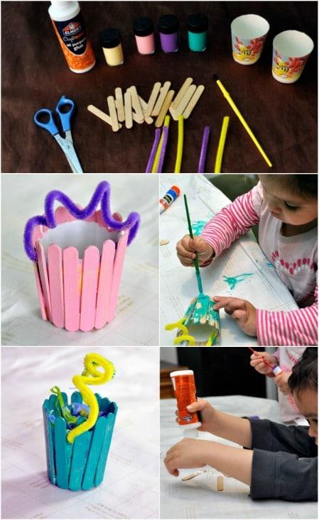 40 fun and creative easter crafts for kids and toddlers diy crafts mini wooden easter baskets negle Images