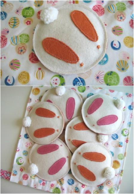 Bunny bean bags