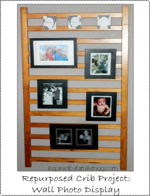 Photo Display - 20 Delightfully Creative and Functional Ways to Repurpose Old Cribs