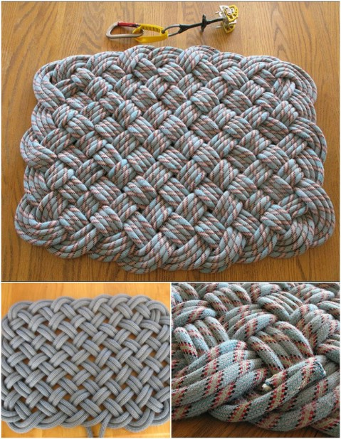 Climbing Rope Weave 30 Magnificent Diy Rugs To Brighten Up Your Home