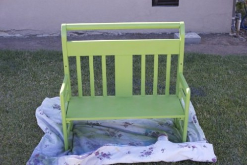 Two-Kid Bench - 20 Delightfully Creative and Functional Ways to Repurpose Old Cribs