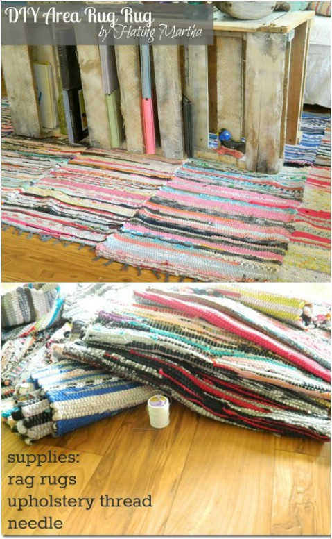 Shabby Chic Rags - 30 Magnificent DIY Rugs to Brighten up Your Home
