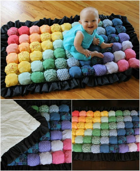 Puffy Baby Rug - 30 Magnificent DIY Rugs to Brighten up Your Home