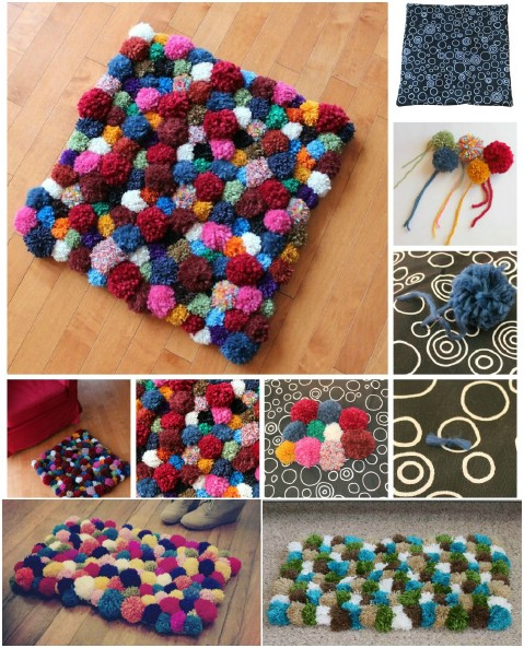 Cuddly Pom Poms 30 Magnificent Diy Rugs To Brighten Up Your Home
