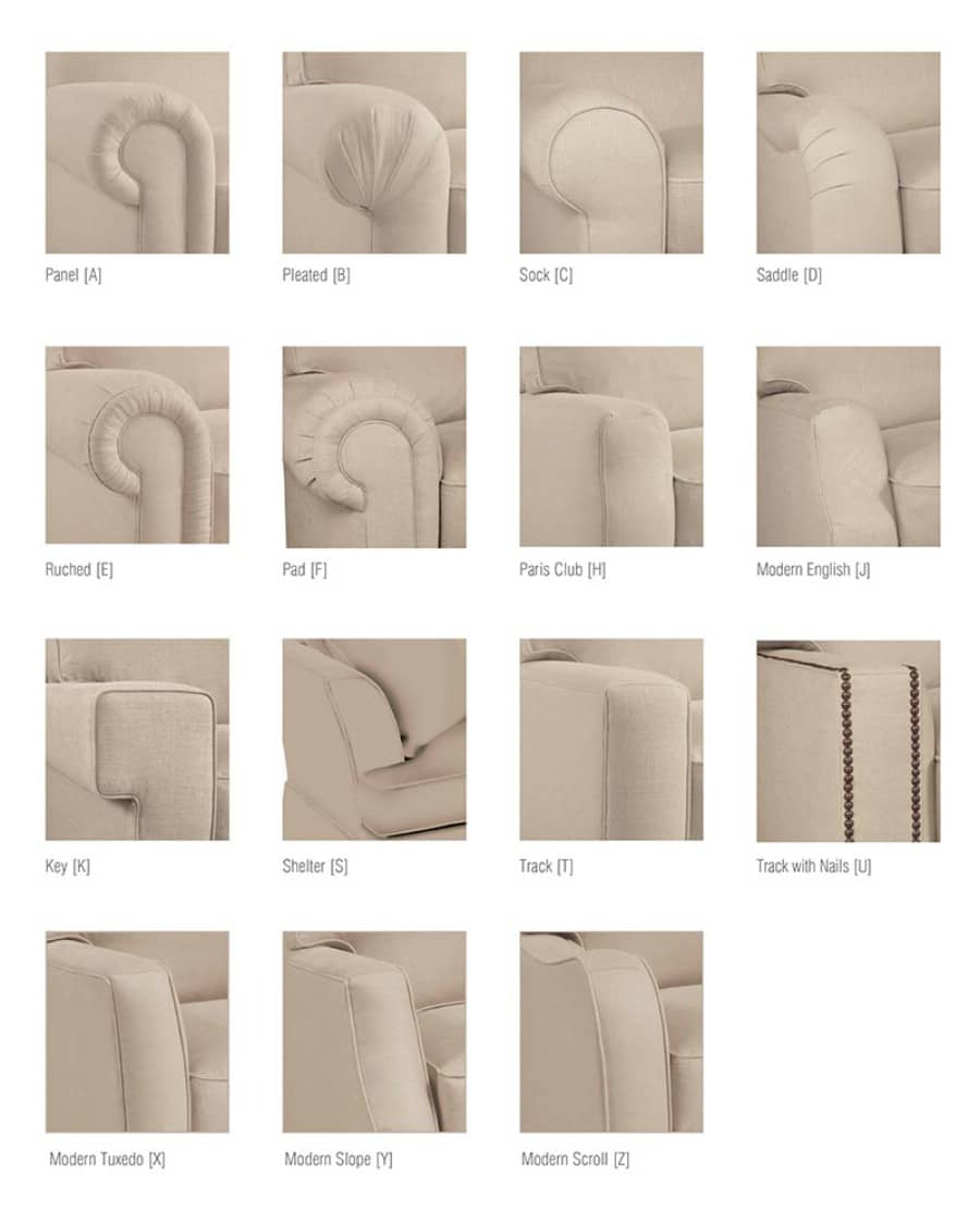 32. What arm style do you want? - 50 Amazingly Clever Cheat Sheets To Simplify Home Decorating Projects