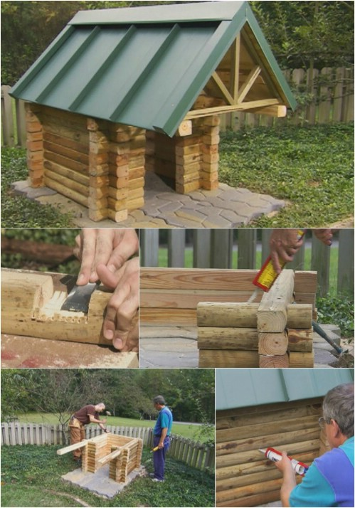 lovely log cabin 15 brilliant diy dog houses with free plans for your furry companion - Dog Kennel Design Ideas