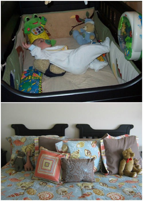 Headboard - 20 Delightfully Creative and Functional Ways to Repurpose Old Cribs