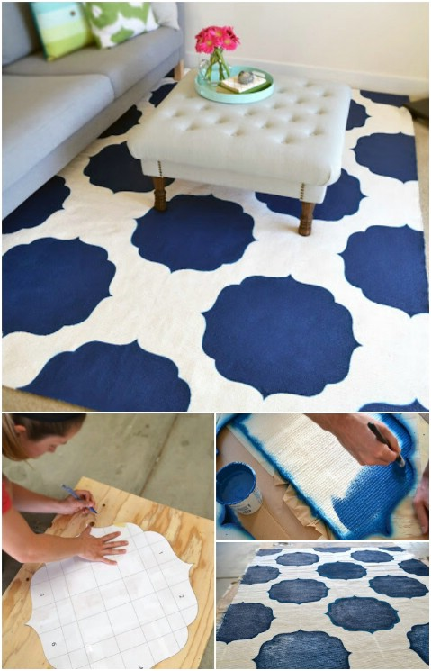 Paint-it-Yourself - 30 Magnificent DIY Rugs to Brighten up Your Home