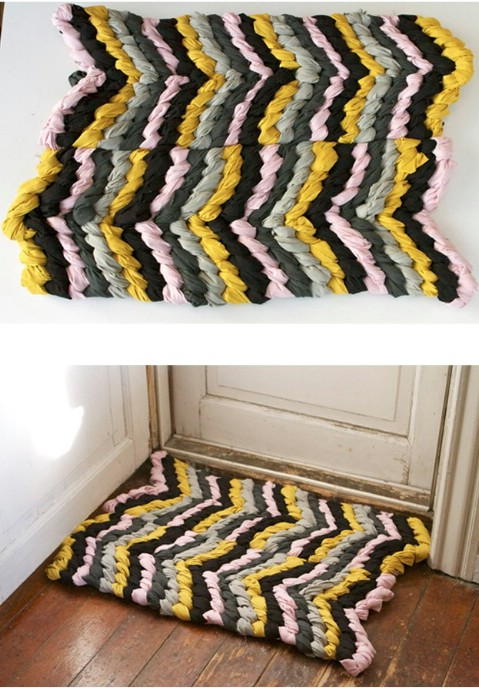 Reminiscent Rug - 30 Magnificent DIY Rugs to Brighten up Your Home