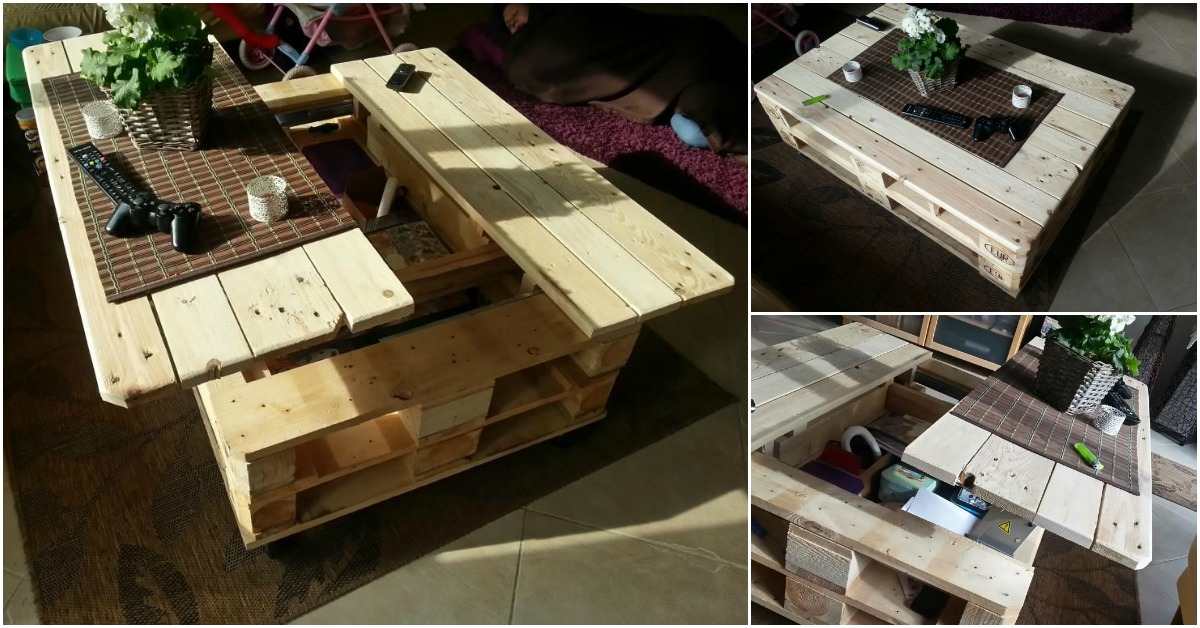 How To Build This Exquisite Multifunctional Coffee Table