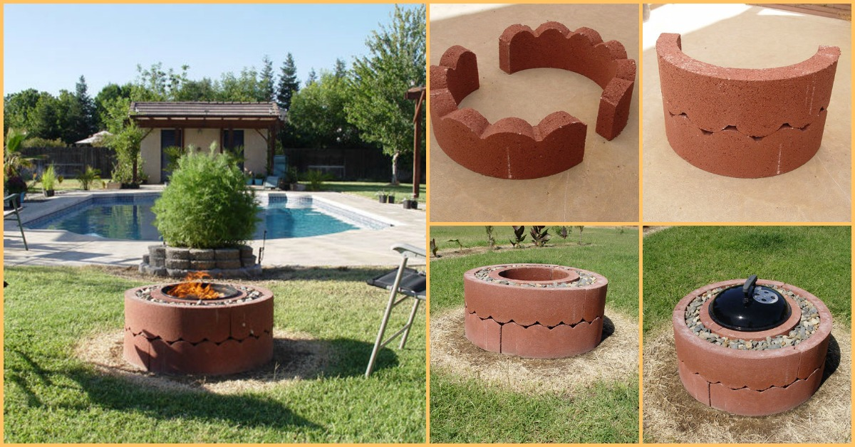 How to build your very own mobile fire pit for just 50 for Easy diy fire pit with grill