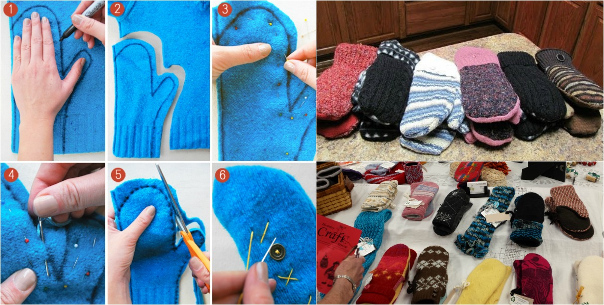 A Quick And Easy Way To Turn Old Sweaters Into Warm Cozy
