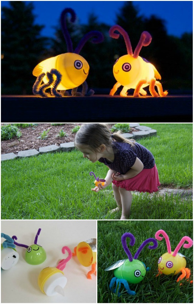 Kids' Craft: Turn those Empty Plastic Eggs into Light-Up Fireflies in No Time...