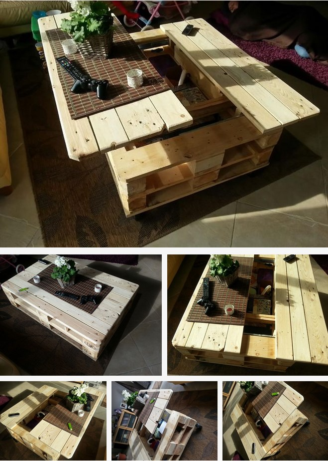 How to Build This Exquisite Multifunctional Coffee Table From Just Two Pallets...
