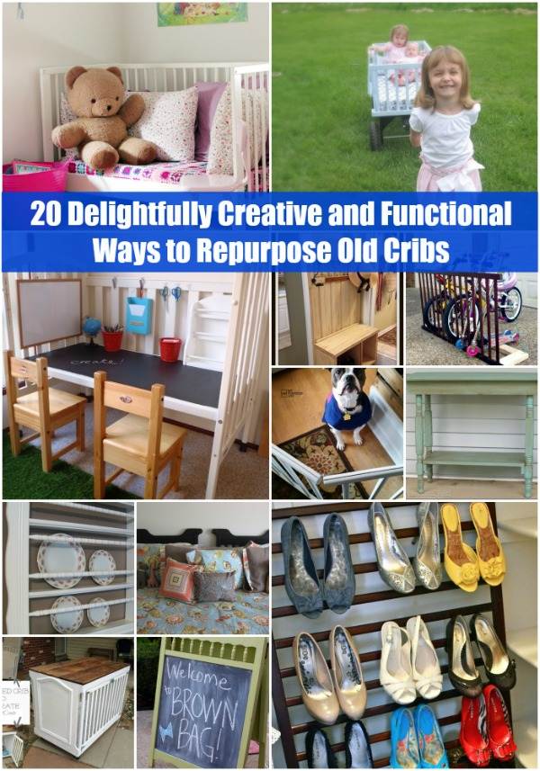 20 Delightfully Creative and Functional Ways to Repurpose Old Cribs.