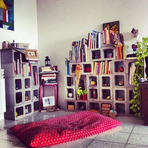 Stacked Storage - 17 Creative Ways to Use Concrete Blocks in Your Home