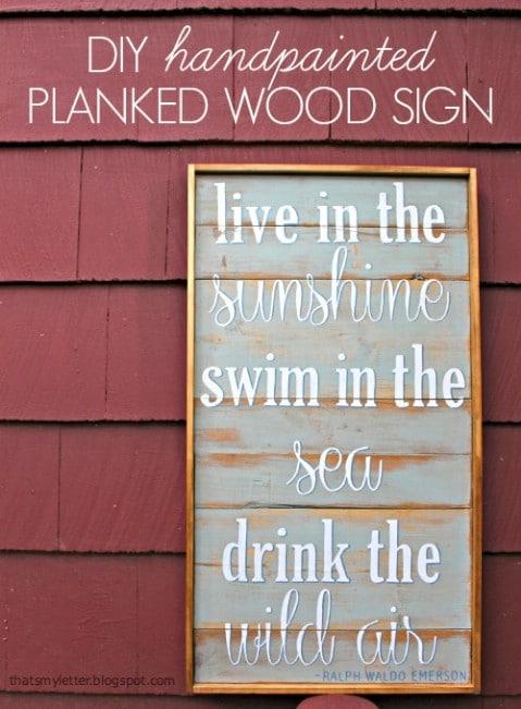 Plank Sign