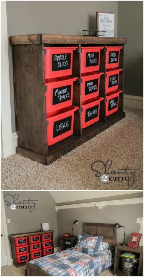 Toy organizer - 50 Decorative Rustic Storage Projects For a Beautifully Organized Home