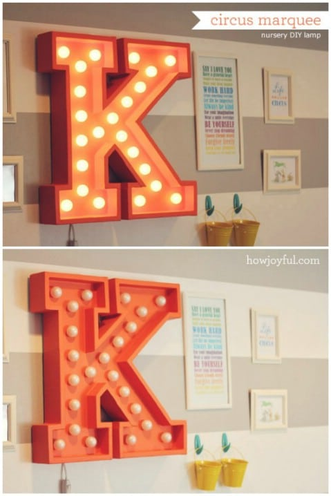 Circus Marquee Letters