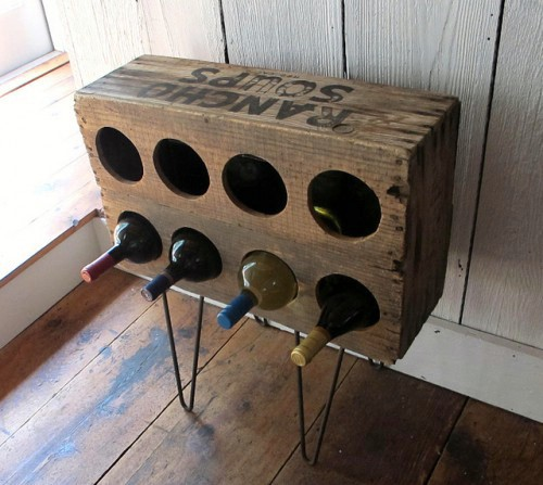 Soup crate wine rack - 50 Decorative Rustic Storage Projects For a Beautifully Organized Home