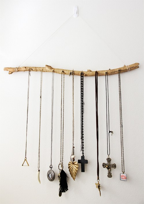 Jewelry branch - 50 Decorative Rustic Storage Projects For a Beautifully Organized Home