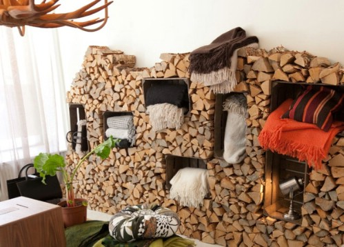 Firewood pile - 50 Decorative Rustic Storage Projects For a Beautifully Organized Home