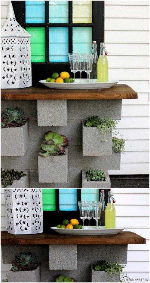 planter bar 17 creative ways to use concrete blocks in your home