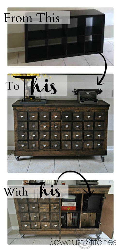 Apothecary cabinet - 50 Decorative Rustic Storage Projects For a Beautifully Organized Home