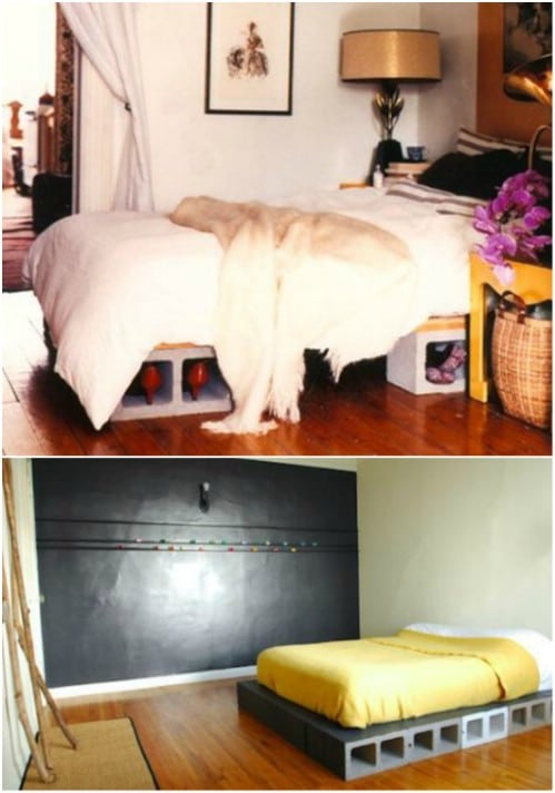 Bed Base - 17 Creative Ways to Use Concrete Blocks in Your Home