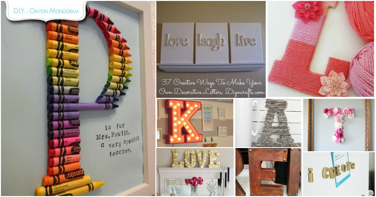 Decorating With Letters And Words 37 Striking Tutorials Show You How To Make Your Own Page 2 Of 3 Diy Crafts