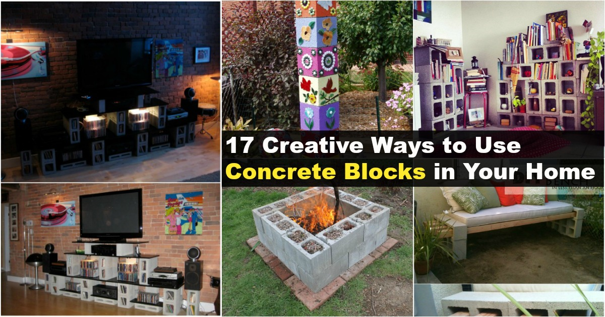 17 creative ways to use concrete blocks in your home diy for Creative ways to make a table