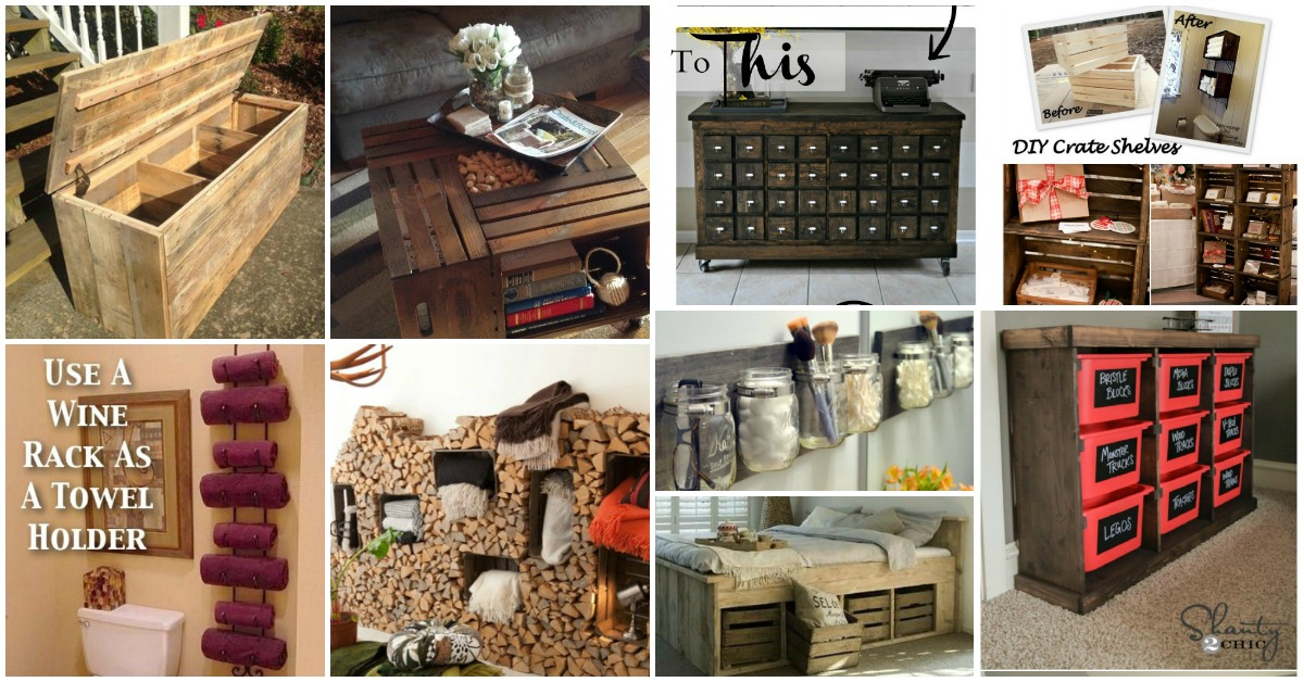 50 Decorative Rustic Storage Projects For A Beautifully Organized Home Diy Crafts