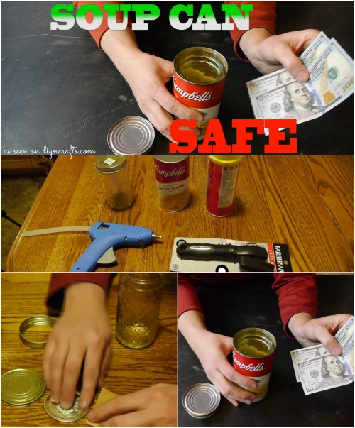 Keep Your Valuables Secure with this Ingenious DIY Soup Can Safe...