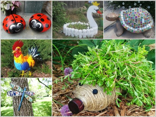 Make cute garden critters out of recycled materials.