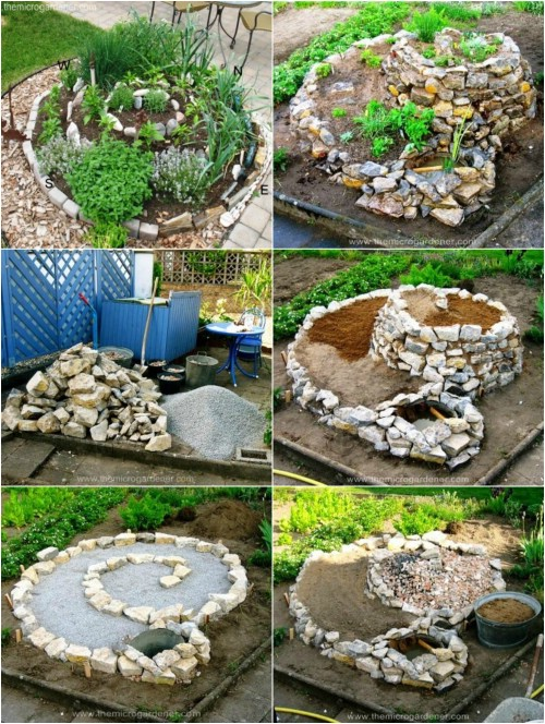 18 brilliant and creative diy herb gardens for indoors and outdoors herb spiral workwithnaturefo