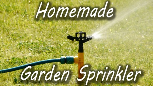 Make a water sprinkler out of a plastic bottle.