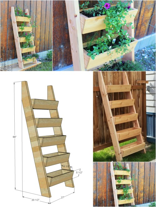 18 brilliant and creative diy herb gardens for indoors and outdoors faux ladder planter workwithnaturefo