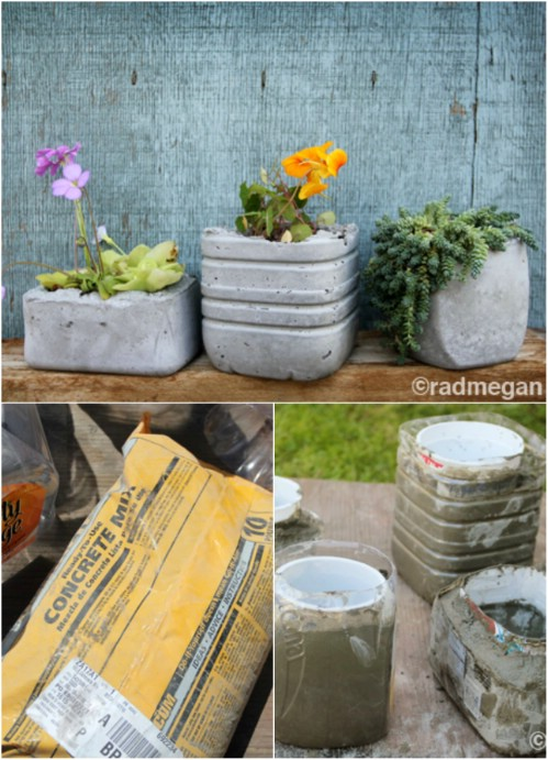 Make molded concrete planters.