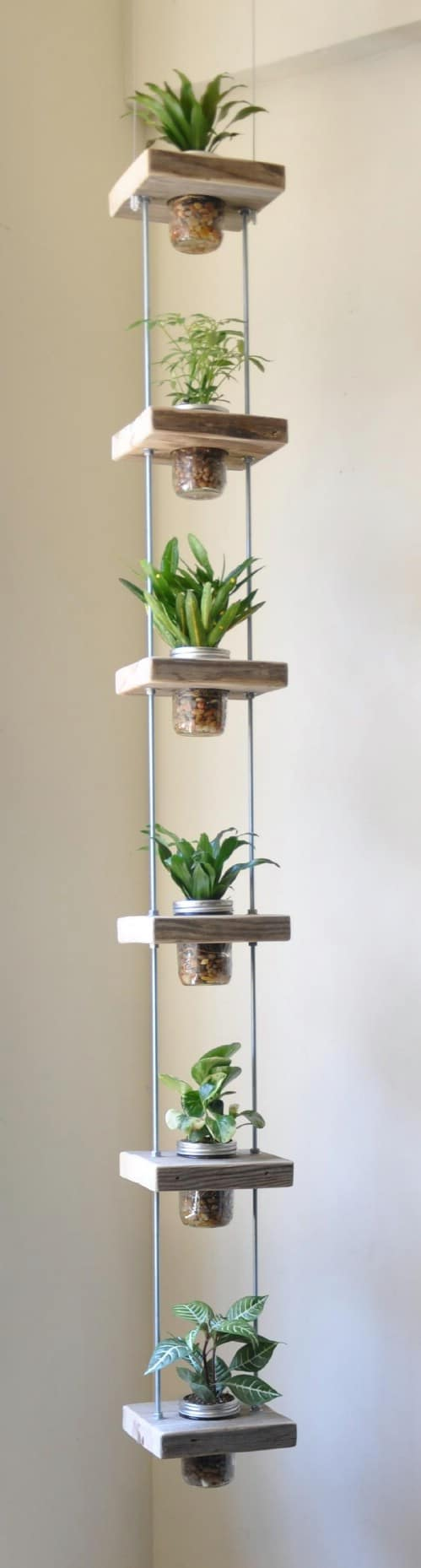 Nice Creative Indoor Herb Garden Ideas Part - 10: Simple Hanging Garden