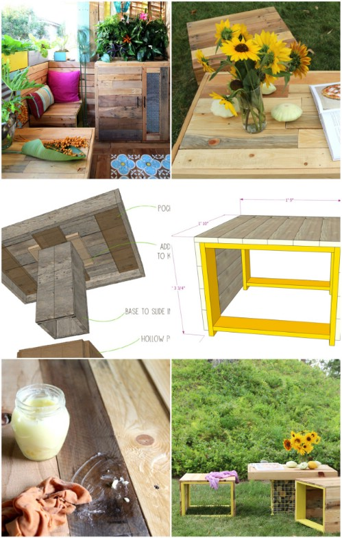 Gabion Table and Bench. 35 Ingenious Outdoor Pallet Projects for All Types of DIYers   DIY