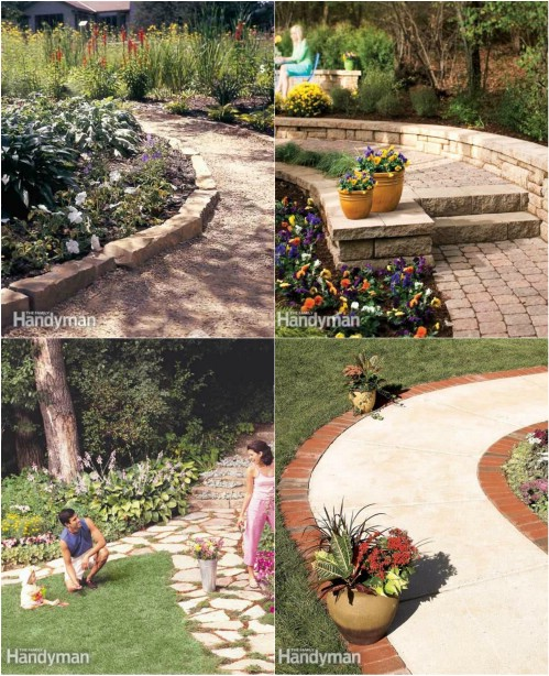 Discover several great ideas for affordable garden paths.