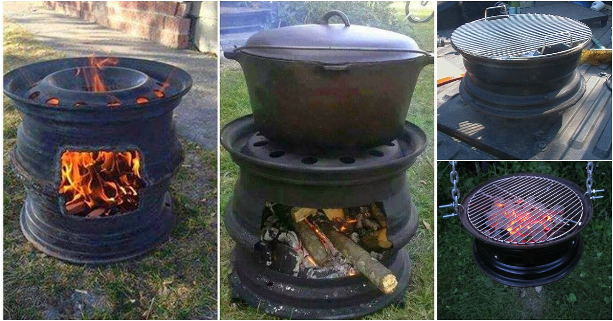 Repurposing At Its Finest How To Make Your Own Bbq Grill From Car Wheels