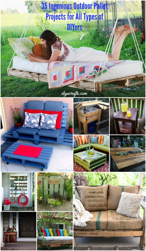 Ingenious Outdoor Pallet Projects For All Types Of DIYers DIY - Outdoor diy projects