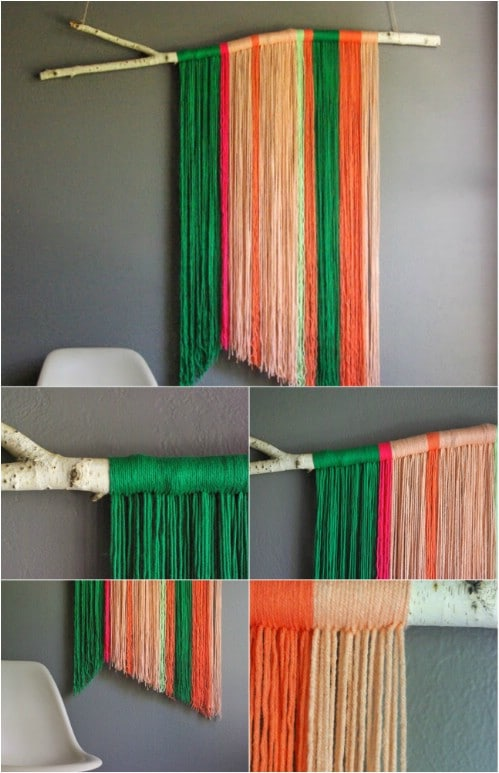 Genial Hanging Yarn Art