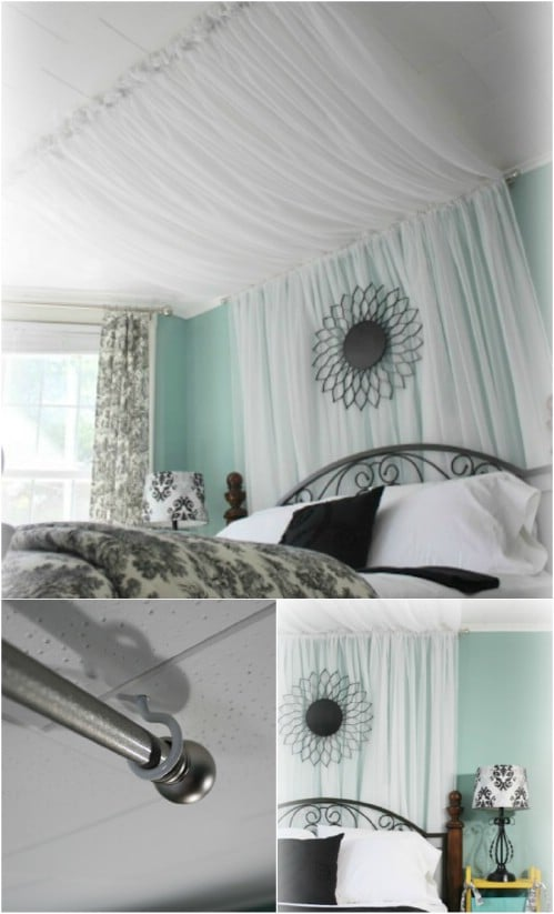 Canopy Curtain sleep in absolute luxury with these 23 gorgeous diy bed canopy
