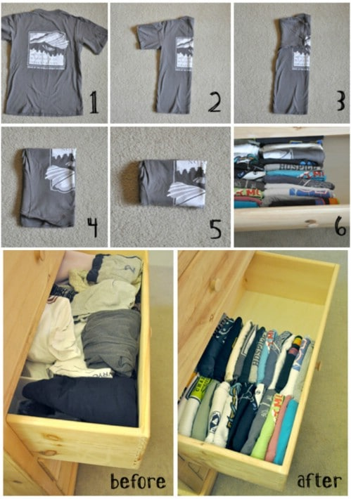 Organize Shirts and Drawers