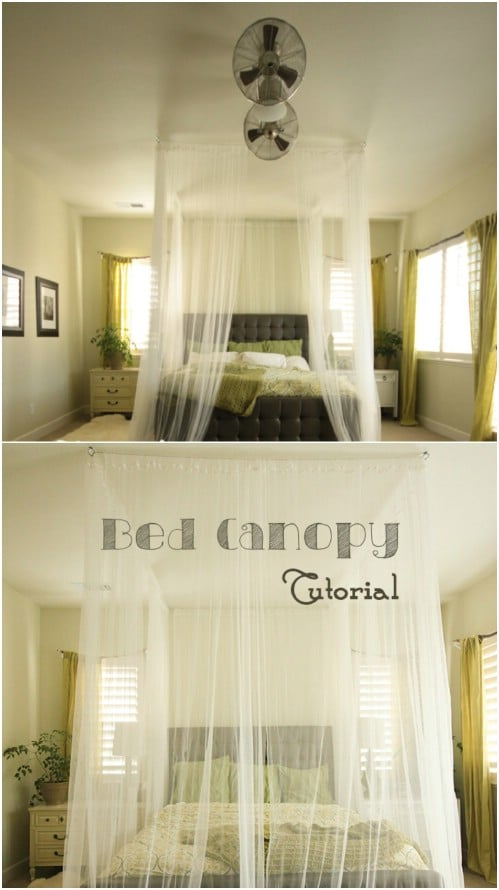 Ceiling Mounted Canopy & Sleep in Absolute Luxury with these 23 Gorgeous DIY Bed Canopy ...