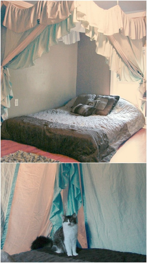 Elaborate Drapery & Sleep in Absolute Luxury with these 23 Gorgeous DIY Bed Canopy ...