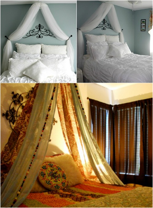 Hoop Canopy & Sleep in Absolute Luxury with these 23 Gorgeous DIY Bed Canopy ...